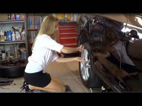 Supermodel and actress jojo cottle changes flat tire wearing mini