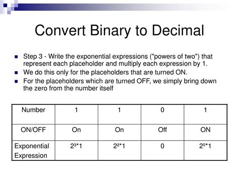 converter binary to decimal ppt binary conversions powerpoint presentation id 376444