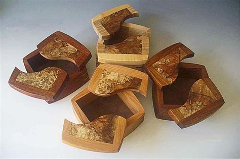 Handcrafted Wooden - decorative trinket boxes handcrafted of woods