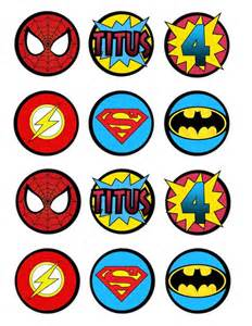 super hero cupcake toppers or decorations by lots o lydia