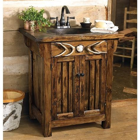 Rustic Style Bathroom Vanities 33 Stunning Rustic Bathroom Vanity Ideas Remodeling Expense