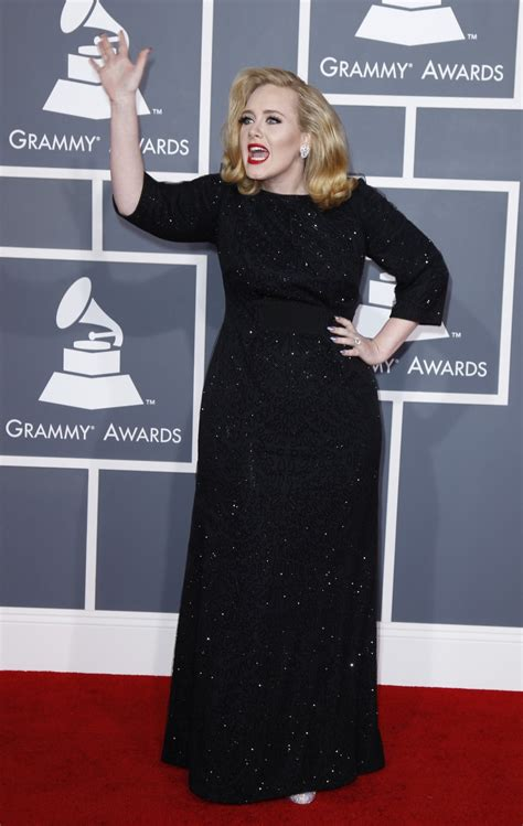 Grammys Carpet The Day After by Grammys 2012 Carpet Adele Carrie Underwood And More