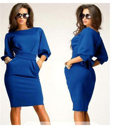 comfortable clothes autumn dress large size dress blue dress 2015 new large