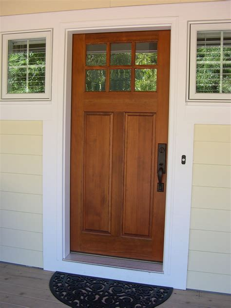 Front Entry Cottage Style Stained Front Door Troxel Cottage Doors Exterior