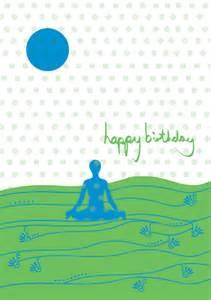 yoga birthday card a yoga birthday card 17x12cm in size