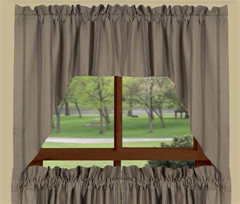 black swag curtains new port stripe swag curtains in black