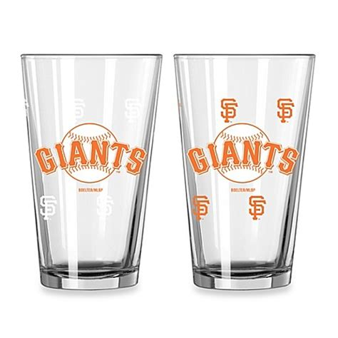 sf giants bathroom set mlb san francisco giants color changing pint glasses set