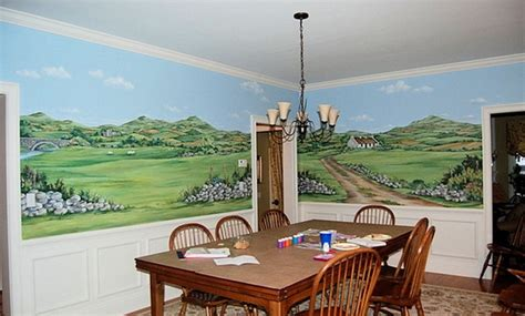 dining room wall murals the best ideas for creating painted wall murals