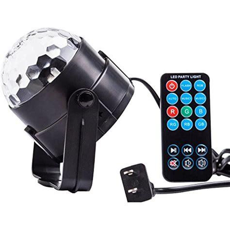 remote audio video lighting spriak party lights disco ball 3w led sound actived strobe