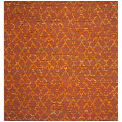 Safavieh Straw Patch Rust Gold 7 Ft X 7 Ft Square Area Straw Rug