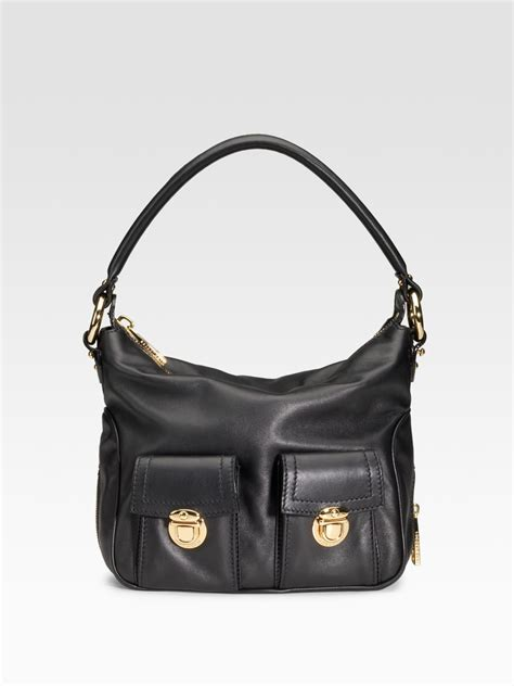 Marc Leather Hobo by Marc Classic Multipocket Leather Hobo In Black Lyst