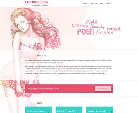 free html template fashion blog paris andreasviklund com