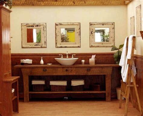 rustikale waschtische 25 ideen f 252 r rustikale badezimmer aus holz und naturstein