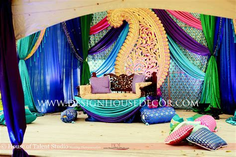 Peacock Themed Indian Wedding Peacock themed mehndi