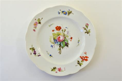 piatti fiori piatto in porcellana vecchia parigi vieux con