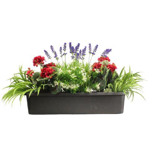 Bunga Palsu Plastik Artifisial 4 mixed flower window box for the home window box and flower