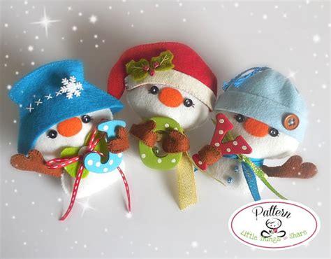 pattern for a felt snowman mr hats snowman ornament pattern set of by