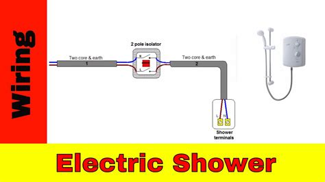 wire  electric shower uk youtube