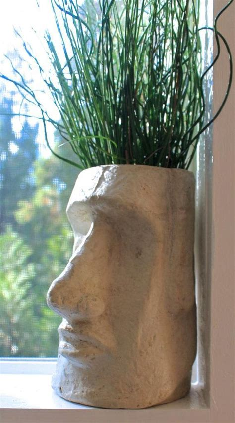 easter island head planter head planters planters plants