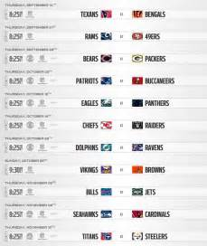 2017 nfl schedule release nfl schedule release 2017 thursday night football games