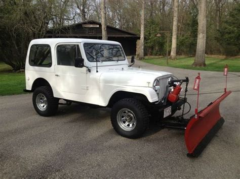 Jeep With Plow For Sale Purchase Used 1980 Jeep Cj 7 6cyl Fiberglass With 6