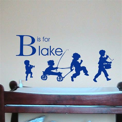 wall stickers boy boy parade personalized wall decal by alphabet garden designs
