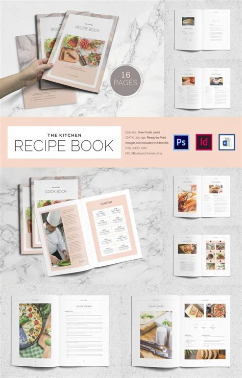 recipe card template indesign best 25 cookbook template ideas on recipe