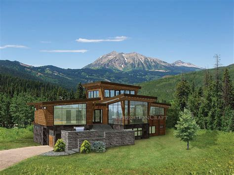 contemporary mountain home plans modern and contemporary