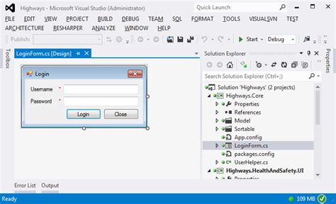 design form in visual studio c visual studio 2012 opening forms when application is