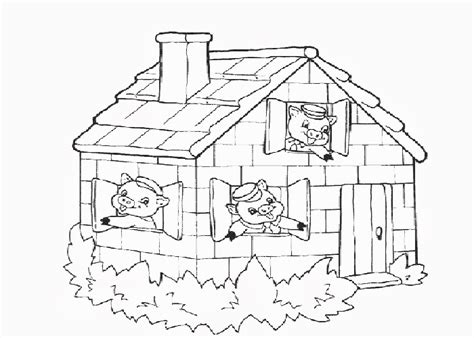 the three little pigs coloring pages free coloring pages