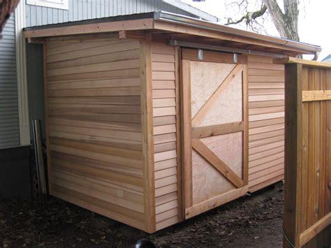 custom garden shed  sliding door google search