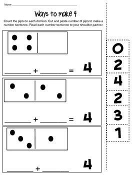 Ways To Make A Number Worksheet ways to make 4 math composing number worksheet