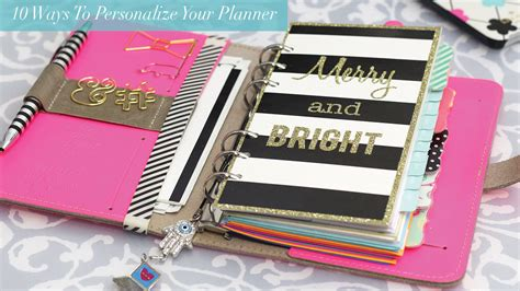 build a planner 10 ways to personalize your planner strange
