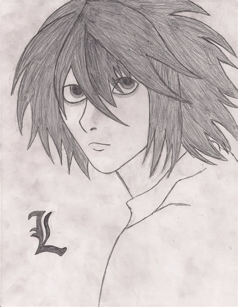 List of Synonyms and Antonyms of the Word: Lawliet Drawing L Death Note Drawing