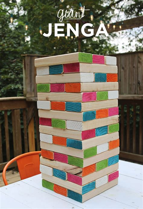 how to make backyard jenga 25 diy yard games