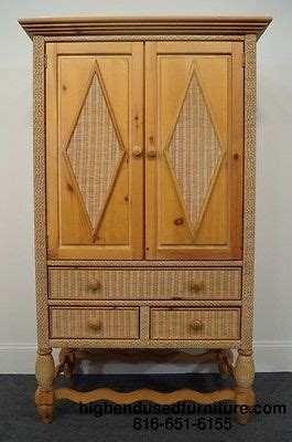 lexington wicker bedroom furniture lexington furniture henry link wicker 42 quot armoire ebay