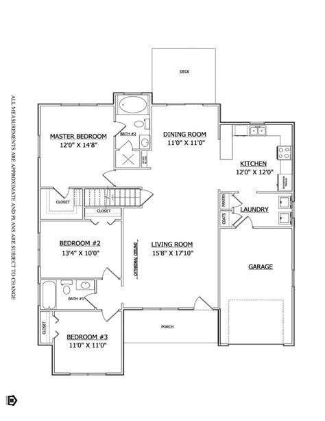 lakeside floor plan floor plan the lakeside ii mearfield lenape builders