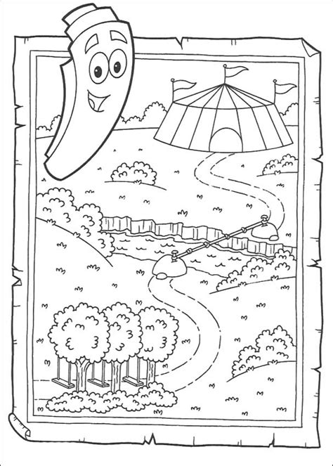 dora coloring pages map dora the explorer coloring pages to print out