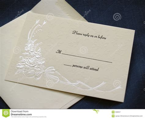 Wedding Invitation Card Preparation by Wedding Reply Card Stock Image Image Of Preparation