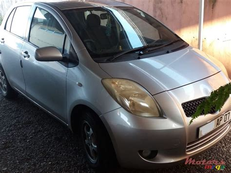 2007 Toyota Yaris For Sale 290 000 Rs Mel Vacoas