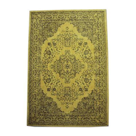 tapijt geel by boo tapijt medallion geel zooff nl
