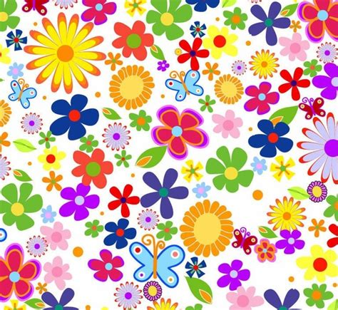 wallpaper flower clipart spring flowers background vector graphic free vector in