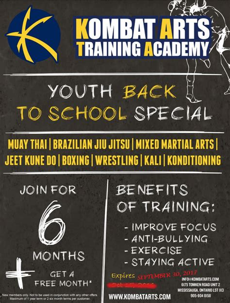 Going Back To School For Mba by Special Promotions Kombat Arts Academy