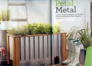 in the garden diy fresh home planter box metal