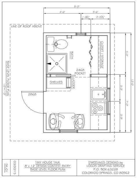 8x12 bathroom floor plans charles strong s 8x12 tiny house design