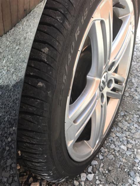 vwvortexcom sidewall bulge  tire shaving awd