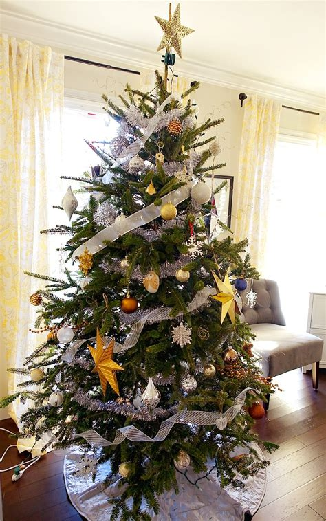 Silver Tree Decor by Home Tour