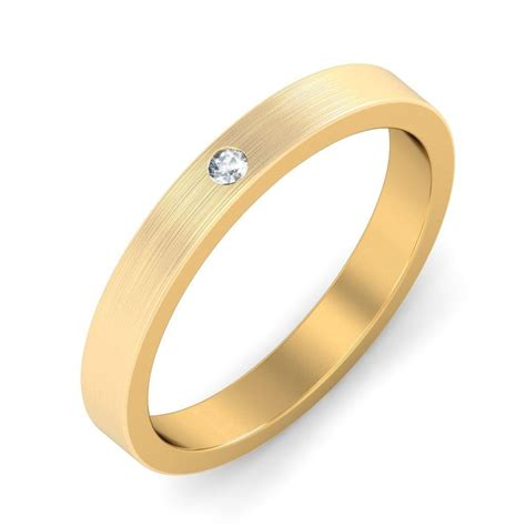 mens wedding ring band in yellow gold jeenjewels