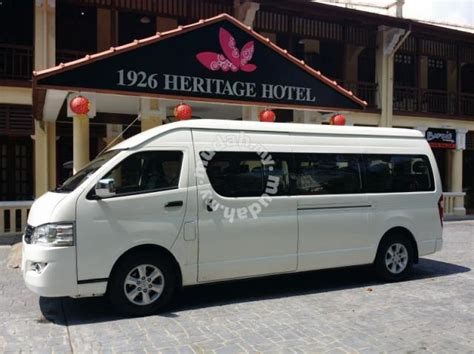 Harga Vans Chauffeur penang transportation for rental and chauffeur cars for