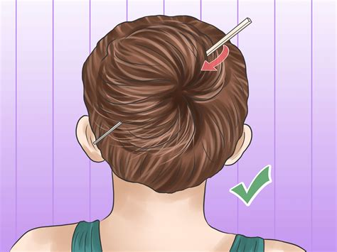 how to put in hair 5 ways to put your hair up with a pencil wikihow